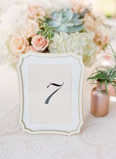 Use frames for table numbers