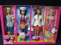 Barbie I Can Be Set of 4 Career Dolls Ballerina Pet Vet Doctor Chef 2010 | eBay