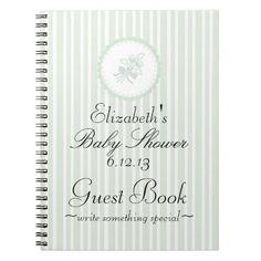 Baby Shower Guest Book Spiral Notebooks