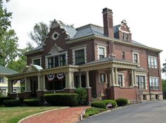 Harry S. Renkert House (Canton, OH) - National Register of Historic Places listings in Stark County, Ohio - Wikipedia, the free encyclopedia Oh My Home, Massillon Ohio, Canton Ohio, Old Mansions, Stark County, Old Houses, Facade, Architecture, House Styles