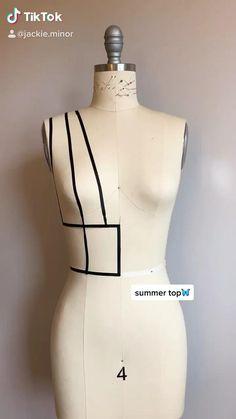 Fashion Sewing, Diy Fashion, Ideias Fashion, Fashion Outfits, Dress Fashion, Dress Sewing Patterns, Sewing Patterns Free, Clothing Patterns, Sewing Basics