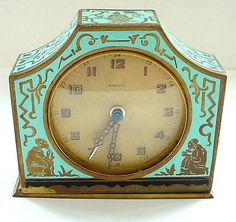 French enamel work, decorated with oriental, chinoiserie themes.