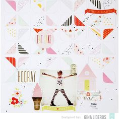 It's Die Cuts week on the @americancrafts blog!  I'm sharing a layout today using the @dearlizzy #FineAndDandy collection and the Retro Rounded Corners cut file from @thecutshoppe #dearlizzy #diecuts  #americancrafts #amcrafts  #acdtsneakpeek #sponsored