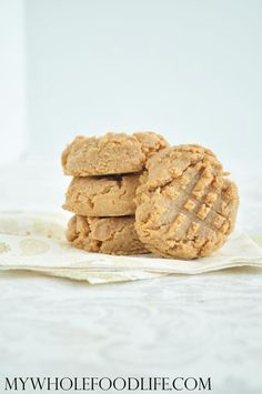 3 Ingredient Peanut Butter Cookies #MyWholeFoodLife