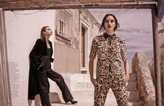 Boys Club–The August issue of Spanish Vogue features an outdoor story lensed by photographer Mariano Vivanco and starring models Gabby Westbrook-Patrick, Morgane Warnier and Stella Maxwell.
