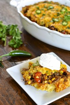 Easy tamale pie with a hearty beef filling, creamy cornmeal crust and ...