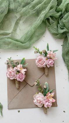 Silk Wedding Bouquets, Diy Wedding Flowers, Bridal Flowers, Silk Flowers, Rustic Boutonniere, Groomsmen Boutonniere, Wedding Boutonniere, Bridesmaid Corsage, Corsage Wedding