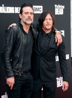 Norman Reedus and Jeffrey Dean Morgan | The Walking Dead Season Seven