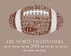 Football Gift... Typography Art 8x10 by lesleygracedesigns on Etsy
