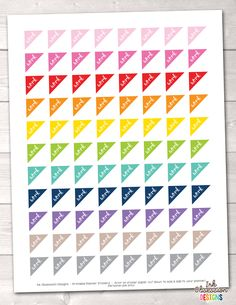 Work Triangles Printable Planner Stickers – Erin Bradley/Ink Obsession Designs