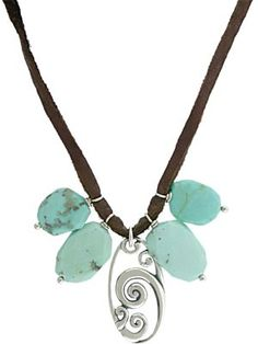 You can make this necklace in just a few minutes! Silver Wave Pendant, leather cord, & jewelry supplies at http://www.ninadesigns.com/jewelry_design_ideas/silver_wave_pendant.html