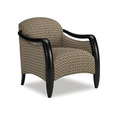 Sam Moore Picasso Exposed Wood Arm Chair Finish: Classic, Upholstery: 2702 Mocha