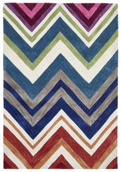 If you enjoy vivid colours, choose a chic rug from this collection. These distinctive contemporary rugs lead today's decorating trends with their saturated hues and solid combinations. The colours in these soft, plush rugs won't fade or bleed, and the rug Vivid Colors, Floor Rugs, Rugs Australia, Trending Decor, Chevron Rugs, Area Carpet, Rugs Online, Multi Color, Modern Rugs