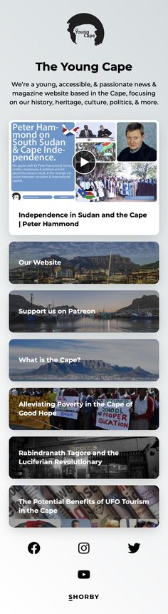 We're a young, accessible, & passionate #news & magazine website based in the #Cape, focusing on our history, heritage, culture, politics, & more. #pinterestinspired Magazine Website, News Magazines, Landing, Cape, Politics, Passion, Culture, History, The Moon