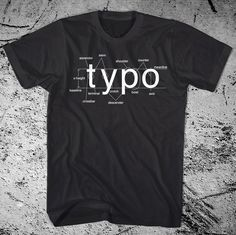 Anatomy of #typography on a t-shirt (set in Helvetica).