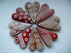 Christmas Goodies, Christmas Treats, Christmas Baking, Gingerbread Decorations, Gingerbread Cookies, Valentine Cookies, Be My Valentine, Diy Christmas Garland, Christmas Feeling