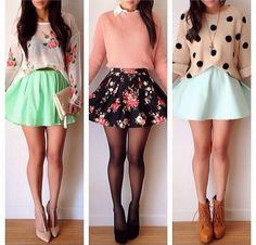 I ❤️all these outfits!! the last two could be fall but not the first one.....