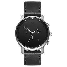 Chrono Silver/Black Leather