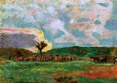 Pierre Bonnard (1867-1947) Campagne, le Labour, vers 1909