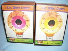 NEW Lot of 2 Eye Want Candy Eyeball Night Light Cracker Barrel Home Decor NIB