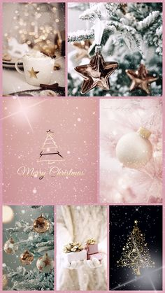 In this DIY tutorial, we will show you how to make Christmas decorations for your home. The video consists of 23 Christmas craft ideas. Christmas Collage, Christmas Mood, Noel Christmas, Pink Christmas, Christmas And New Year, All Things Christmas, Vintage Christmas, Christmas Crafts, Christmas Decorations