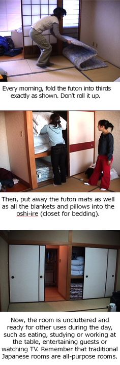 Put the bed away every morning, and voila! the room becomes whatever else you want! from here: http://mn_nihongo.tripod.com/oshi_ire.html