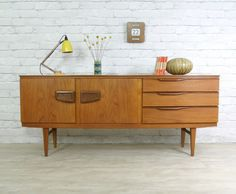 RETRO VINTAGE TEAK MID CENTURY DANISH STYLE SIDEBOARD EAMES ERA 50s 60s | eBay