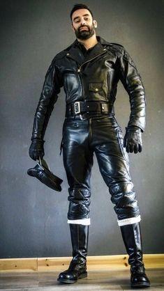 Mens Leather Pants, Biker Leather, Leather Gloves, Black Leather, Motorcycle Leather, Leather Jackets, Homo, Leder Outfits, Men In Uniform
