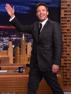 On friendly terms: Jennifer's estranged husband Ben Affleck appeared on The Tonight Show Starring Jimmy Fallon on Thursday night