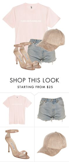 """""""Untitled #2998"""" by xirix ❤ liked on Polyvore featuring Levi's, Manolo Blahnik and River Island"""