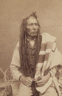Poundmaker was born into a prominent Plains Cree family from the House band, his maternal uncle being Mistawāsis (Big Child), a leading chief in the Eagle Hill (Alta) area. Description from biographi.ca. I searched for this on bing.com/images