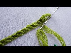 basic hand embroidery tutorial: Hungarian Braided Chain Stitch This video about .hope you enjoy.Please stay with Today fashion Style will get more videos and. Hand Embroidery Videos, Hand Embroidery Flowers, Embroidery Stitches Tutorial, Hungarian Embroidery, Learn Embroidery, Crewel Embroidery, Hand Embroidery Designs, Ribbon Embroidery, Cross Stitch Embroidery
