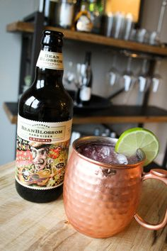 This summer, mix up our refreshing take on the classic Moscow Mule cocktail! Cocktail Photography, Wine Cocktails, Beverages, Drinks, Moscow Mule Mugs, Beans, Canning, Tableware, Sweet
