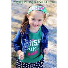 Irish Girl Tee st. Patrick's day Www.jumpinjacksplat.com