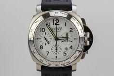 Panerai Luminor DayLight Chronograph PAM 188 Automatic Dive Watch White Dial