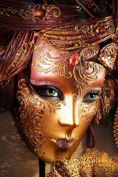 Venetian Mask. #masks #venetianmask #masquerade http://www.pinterest.com/TheHitman14/art-venetian-masks-%2B/