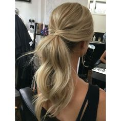 35 Super-Simple Messy Ponytail Hairstyles ❤ liked on Polyvore featuring hair, hairstyles and hair styles