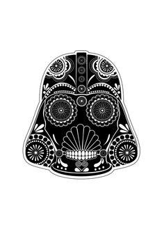 star wars sugar skull   Star Wars Patchwork on Behance