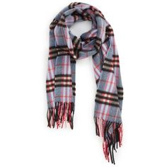 Men's Burberry Castleford Check Cashmere Scarf (1.375 BRL) ❤ liked on Polyvore featuring men's fashion, men's accessories, men's scarves, pale carbon blue, mens cashmere scarves, mens scarves and burberry mens scarves