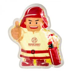Custom Printed Firefighter Hot and Cold Packs - Fire safety departments, hospitals etc can utilize these custom products for awareness campaigns and marketing purposes.shop today! #promotinalproducts #firefighters #firesafety #giveaways #hotcoldpacks #therapy