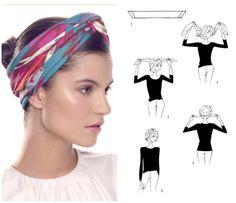 How To Tie A Scarf - Hermès Scarf Knotting Cards - Turban