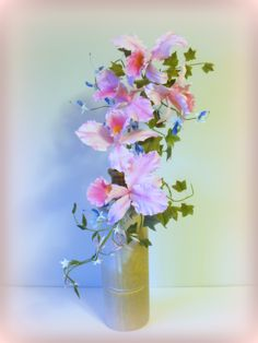 Pink Cattleya Gumpaste Orchids