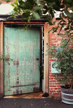 old wide doors