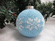 Knitted Christmas balls - Snowflake