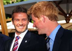 PRINCE HARRY IS FOLLOWING IN PRINCESS DIANA'S FOOTSTEPS ¤¥¤  While William and Kate like to fly under the radar, Harry has a few celebrity friends in his phone book - as did his mom. Diana socialized with Gianni Versace, Elton John, and Freddie Mercury, while Harry is friendly with David Beckham, James Haskell, and Joss Stone. © Getty