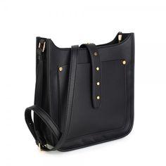 Kabelka - eko kožená crossbody s popruhom, čierna Bucket Bag, Diaper Bag, Anna, Bags, Fashion, Handbags, Moda, Fashion Styles, Diaper Bags