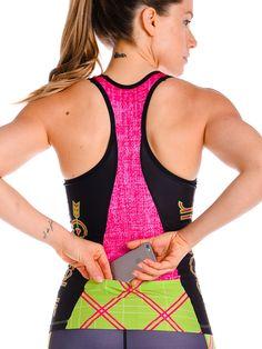 Pink Tartan Women's Triathlon Top