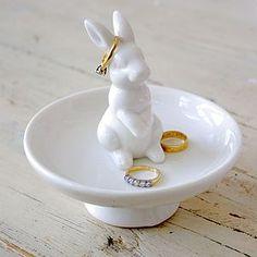 Ceramic Rabbit Trinket Dish
