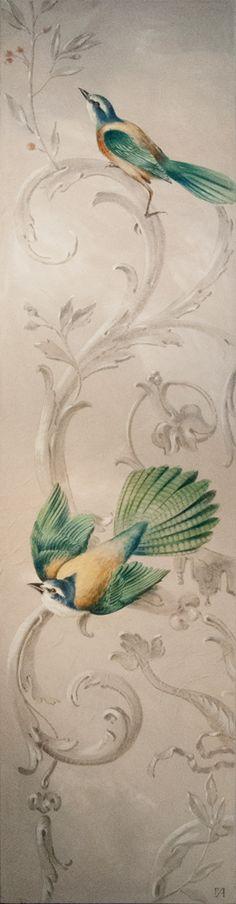 Oiseaux d'Acanthe. 240×74 cm