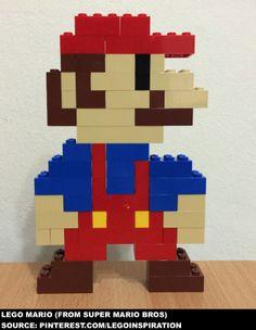 My Lego MOC: Mario (From Super Mario Bros) - Source: http://www.pinterest.com/legoinspiration
